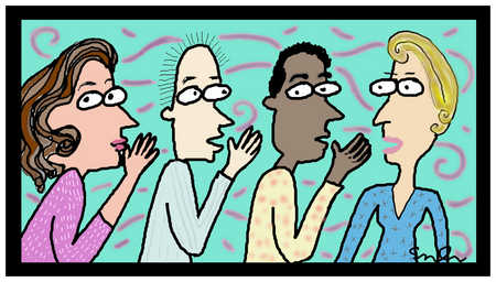 Four People Telling Secrets