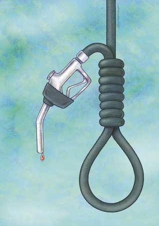 Gas nozzle as noose