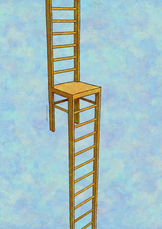 Chair with two ladders connected