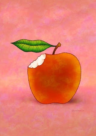 Apple with bite