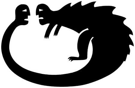 Dragon Fighting With Tail