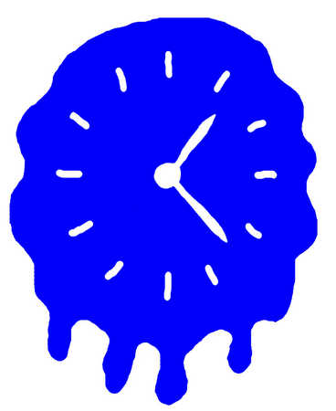 Clock melting on a wall