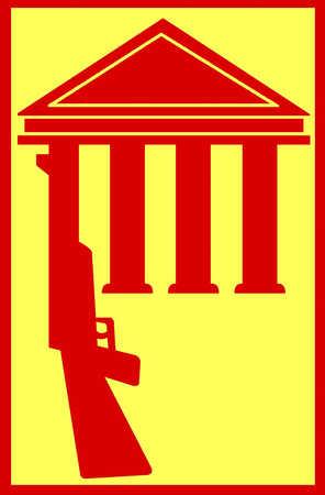 Gun as column of a government building