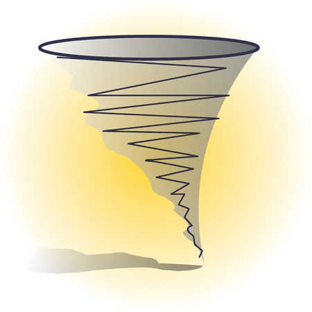 Illustration of tornado