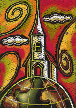 Church on top of globe