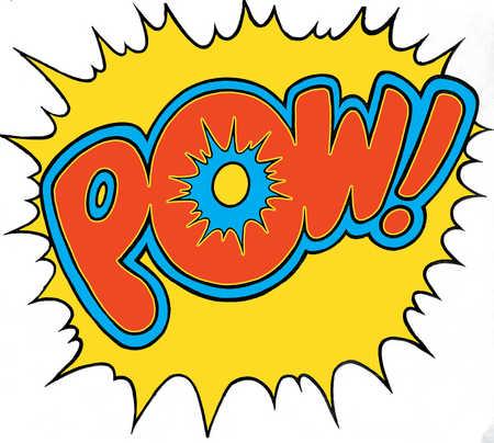 Comic strip fight sound POW