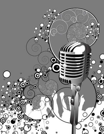 Illustration of microphone and circle designs