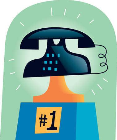 Telephone on numbered platform