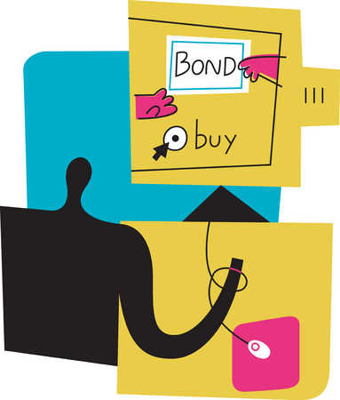 Person buying bonds online