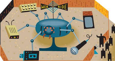 World Wide Web ride at amusement park