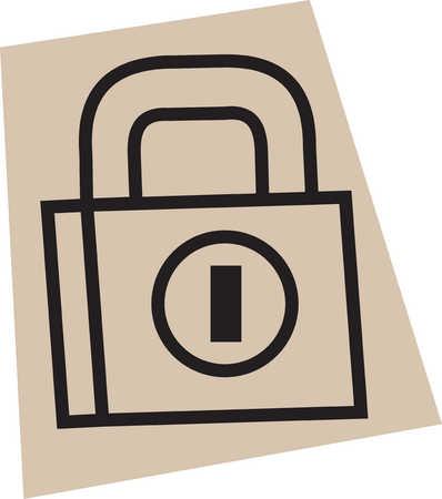 Illustration of padlock