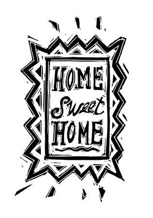 Illustration of Home Sweet Home sign