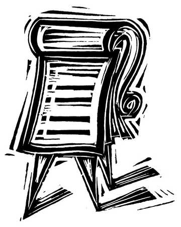 Illustration of flip chart documents
