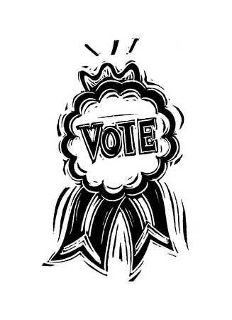 Illustration of Vote ribbon