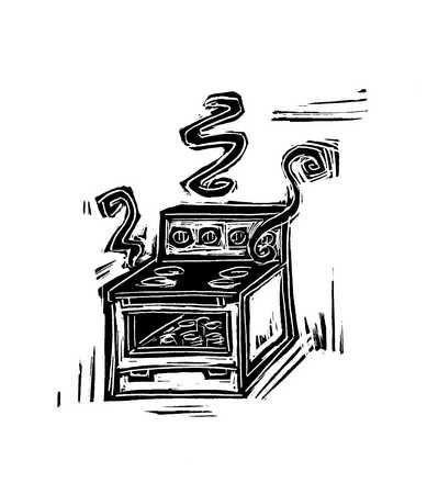 Illustration of oven