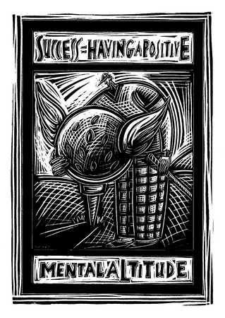 Illustration of motivational poster