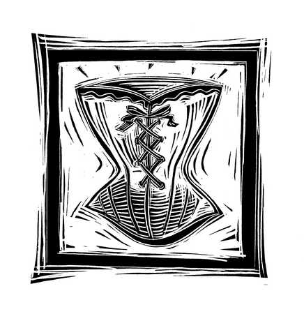 Illustration of corset