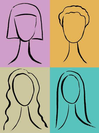 Variety women's hairstyles
