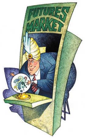 Businessman dressed at fortune teller