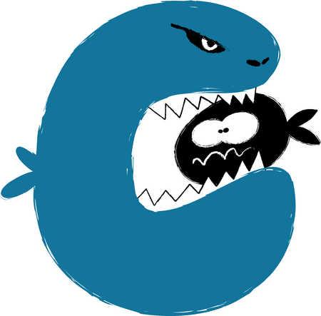 Stock illustration big fish eating little fish for Big fish eat small fish