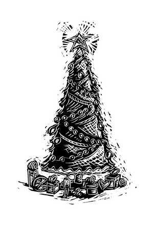 Illustration of Christmas tree