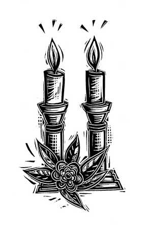 Illustration of lit candles