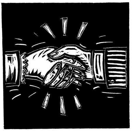 Illustration of shaking hands