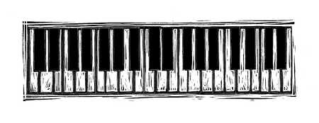 Illustration of piano keyboard
