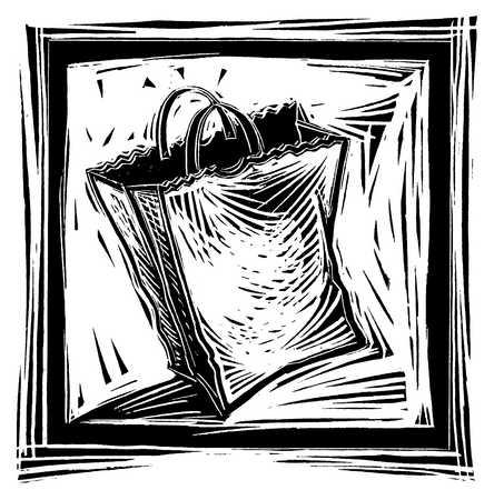 Illustration of grocery bag