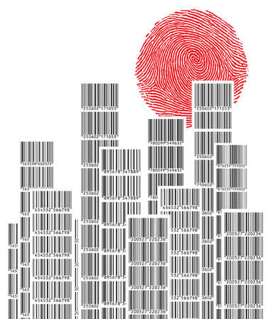 Highrise buildings made up of bar codes