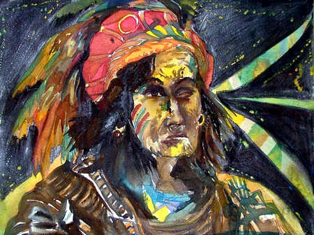 Illustration of Native American man