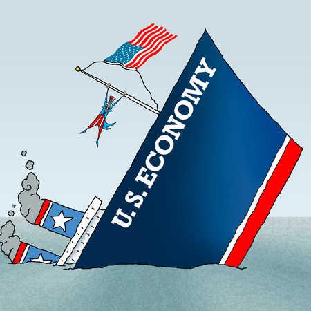United States economy ship sinking