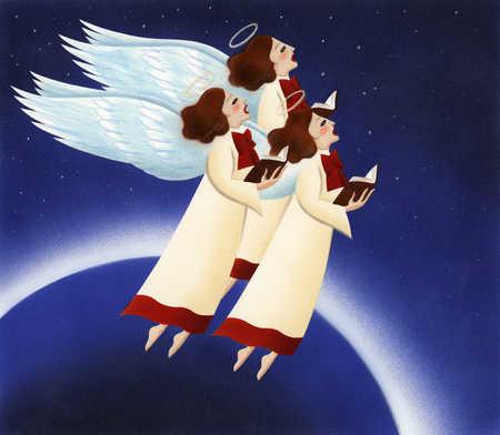 Angels singing in space