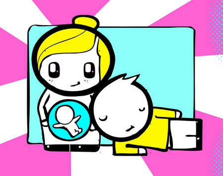 Pregnant woman next to husband
