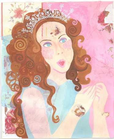 woman in an evening dress and tiara