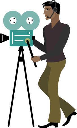 Stock illustration camera man camera man freerunsca Choice Image