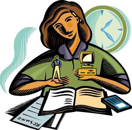 Businesswoman overburden with official work