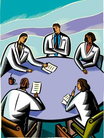 doctors at a board room table