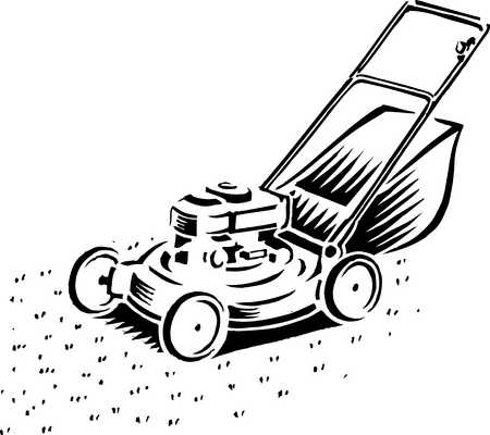 Stock Illustration Lawnmower