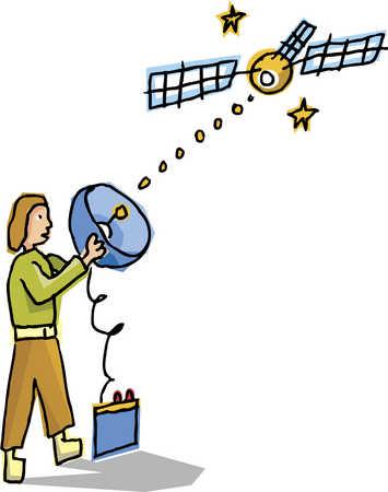 personal satellite dish