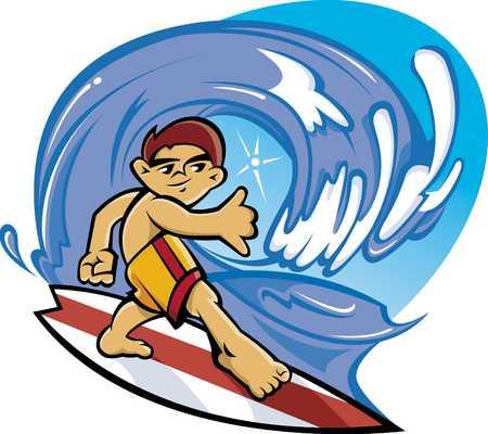 Boy surfing in sea, close-up
