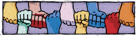 fists joined together