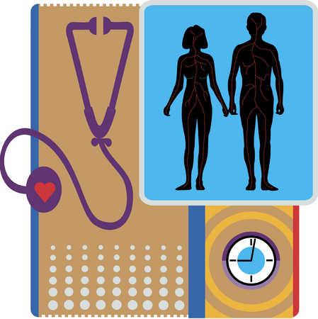 Stethoscope and Heart health
