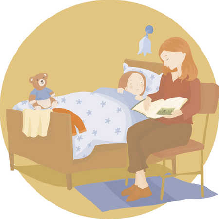 mom reading a bedtime story
