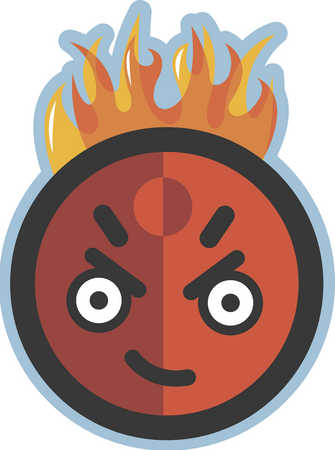 angry man on fire