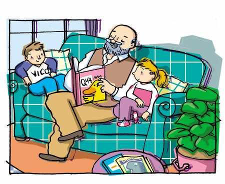 reading with grandpa