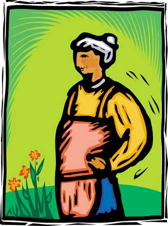 Woman gardening with backache, close-up