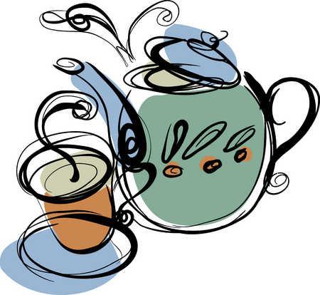 Teapot and hot tea