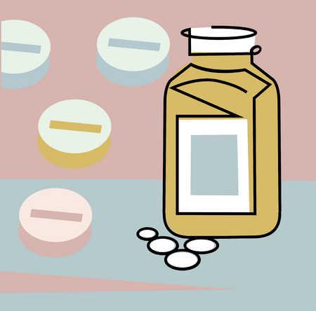 Prescription tablets, close-up