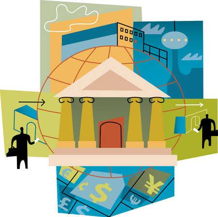 international banking montage